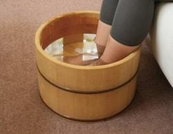 足湯で循環を良くする